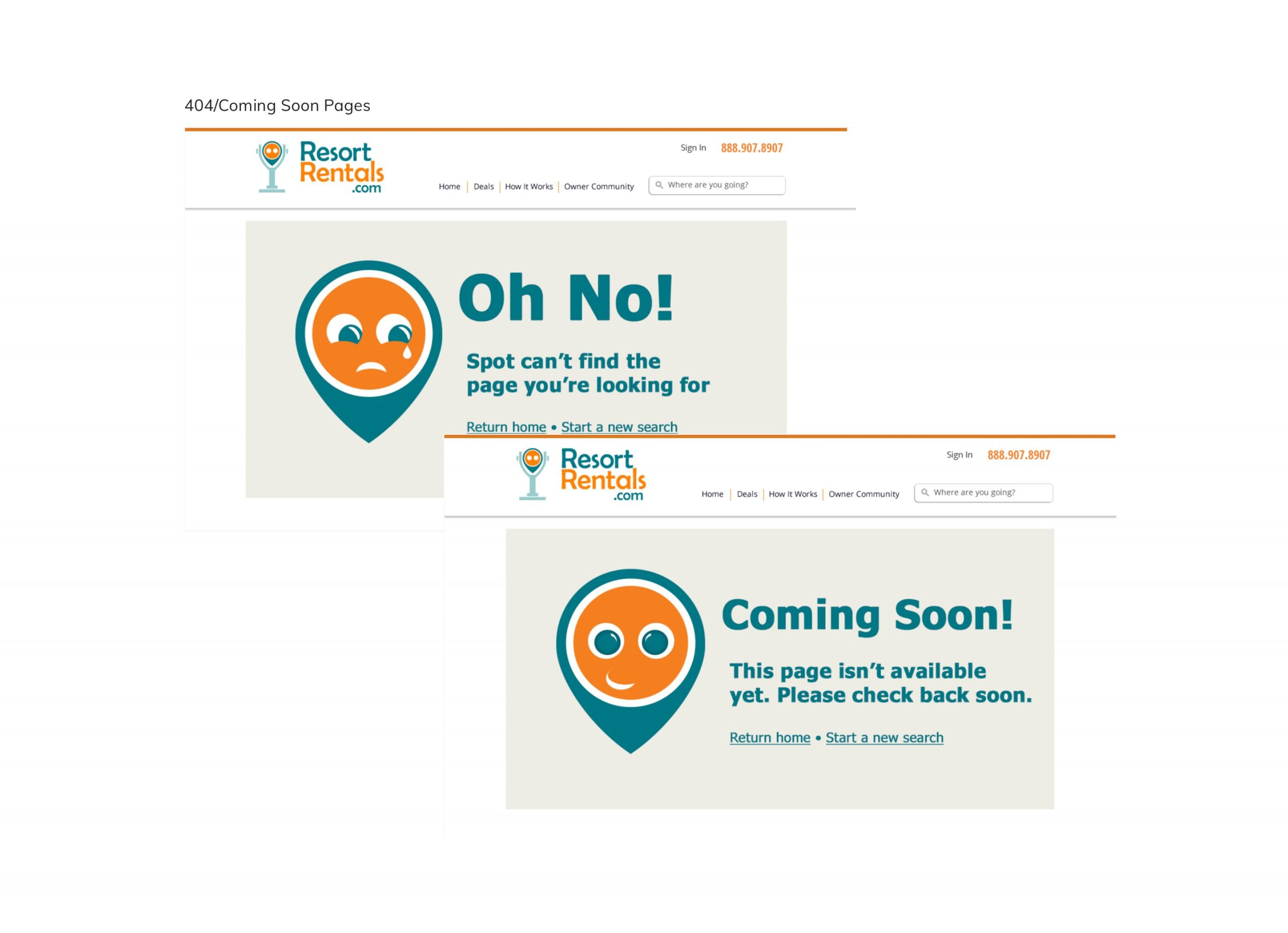 Travel Booking site 404 and coming soon pages