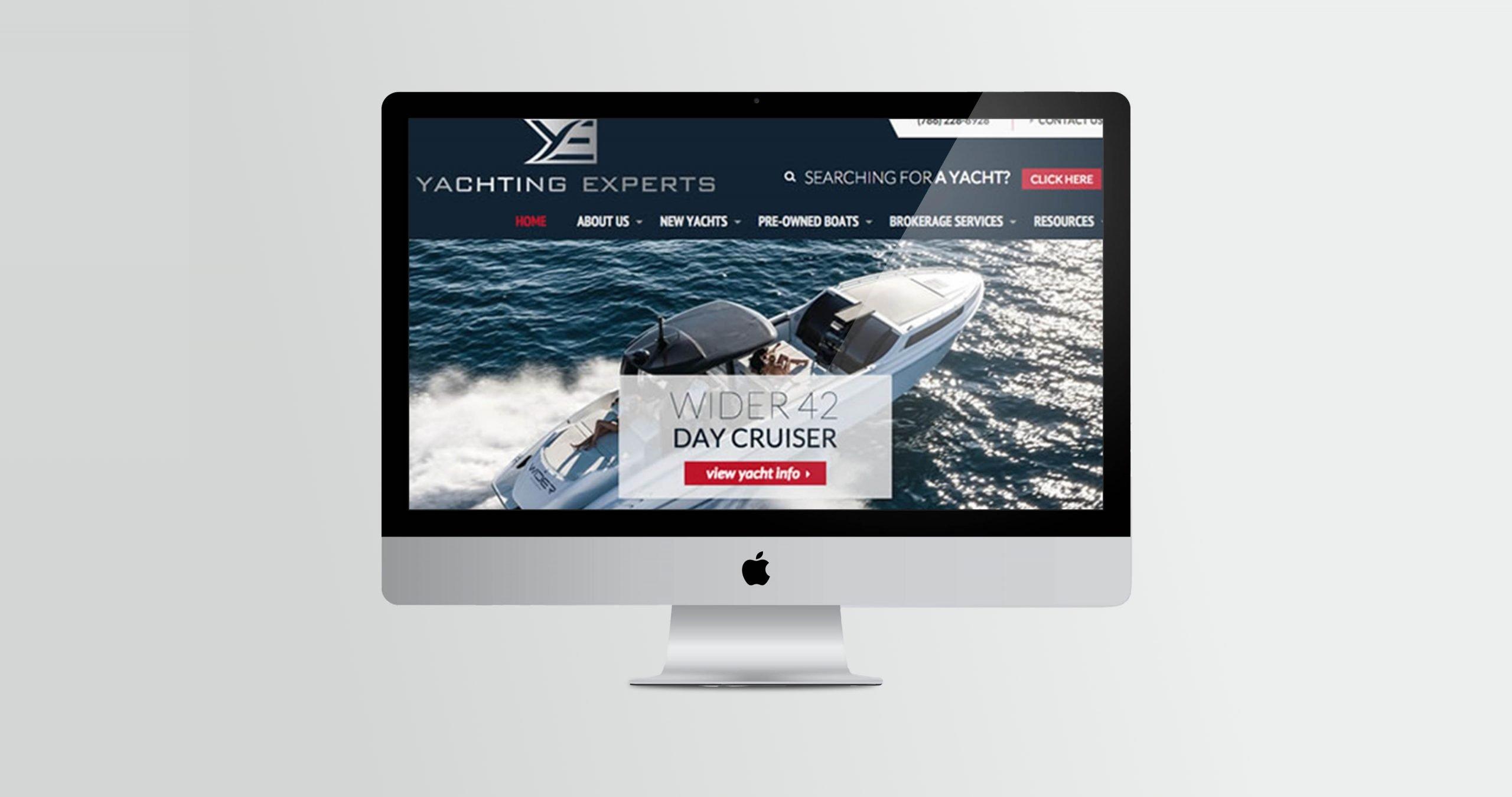 Yachting Experts Desktop Website