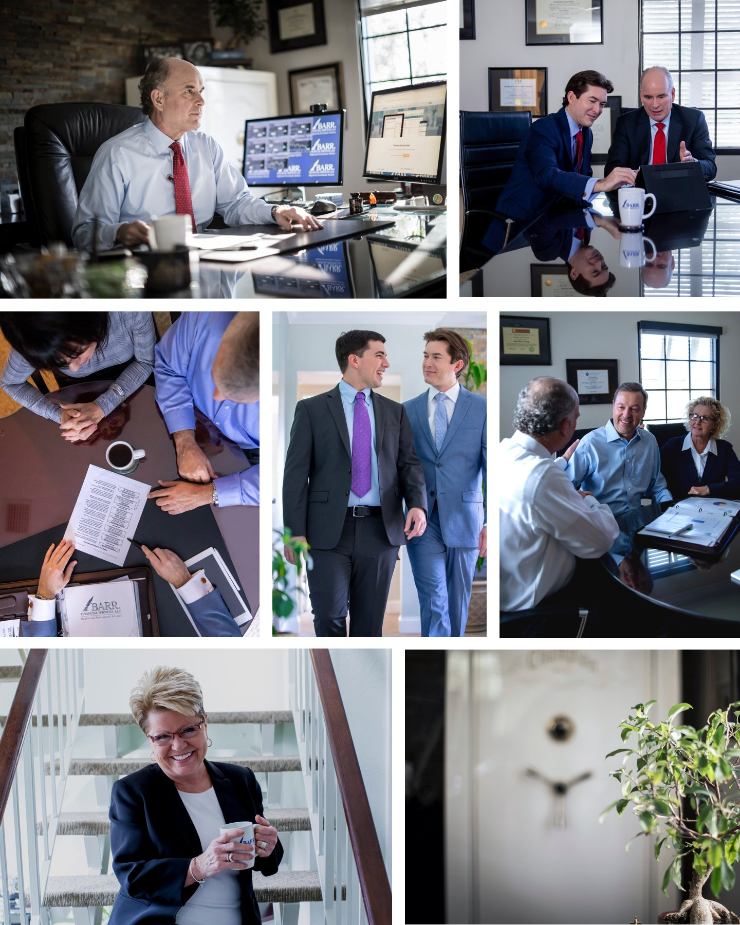 BARR Financial Staff and Client photos