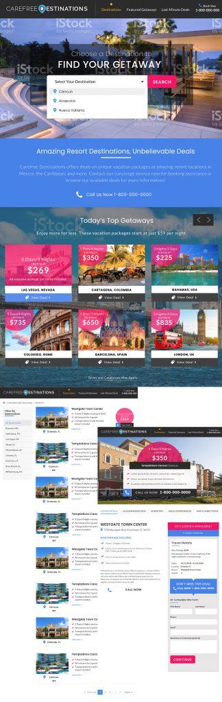 Carefree Destinations Booking Website