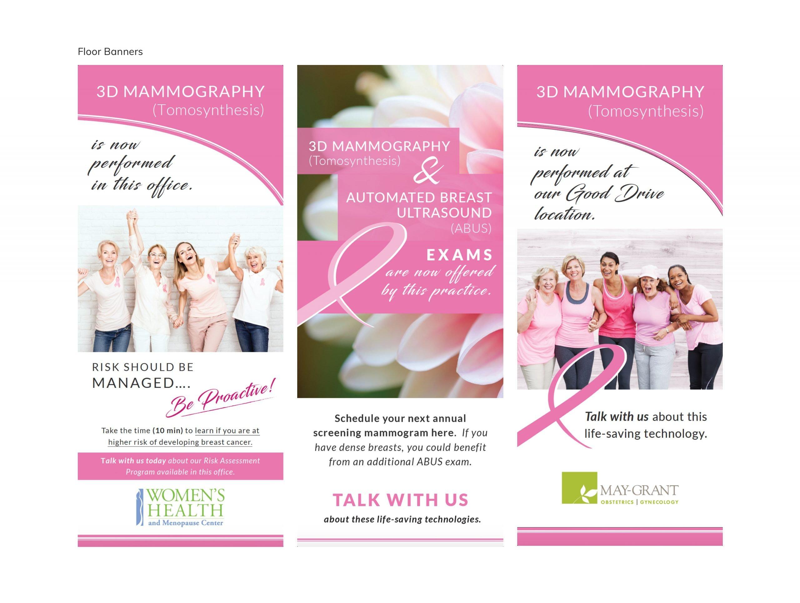 Onsite Mammography Floor Banner Designs