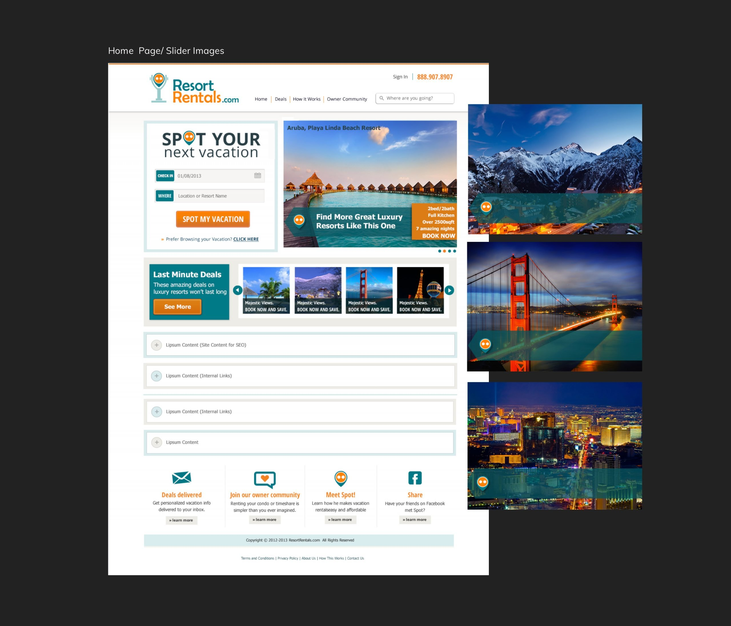 Travel Booking site Home Page