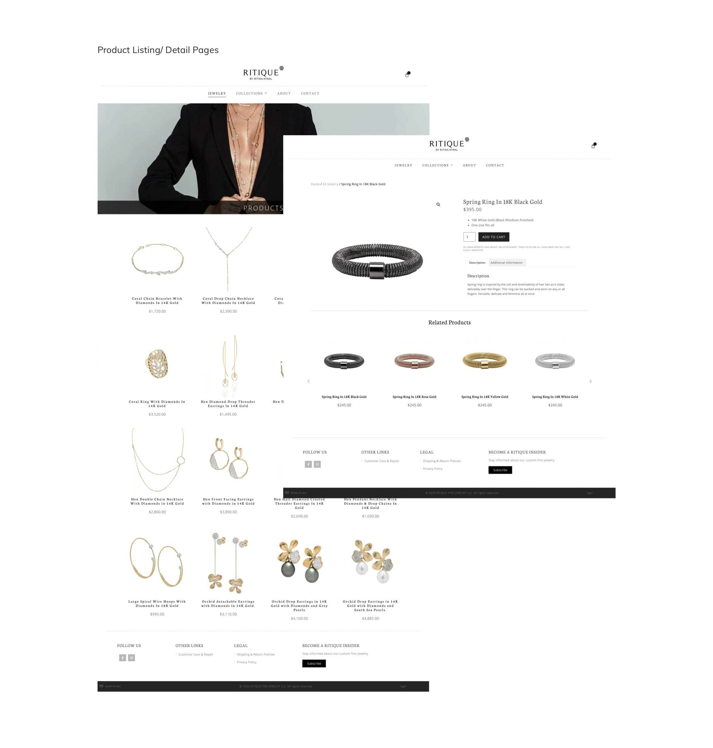 Ritique by Ritika Atwal Product Listings and Detail Pages