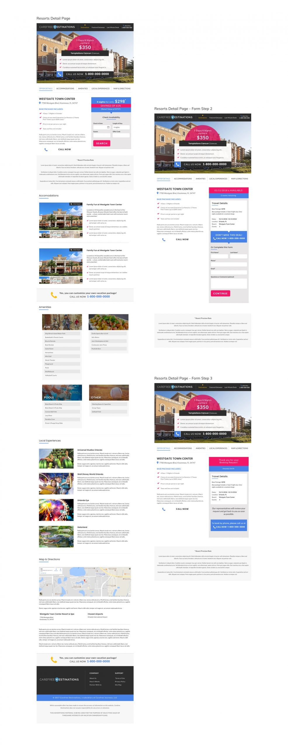 Carefree Destinations Booking Forms