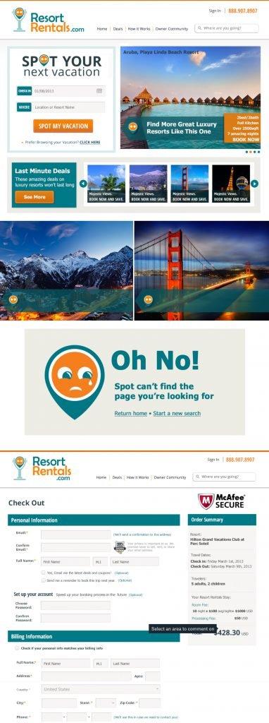 Resort Rentals Booking Website