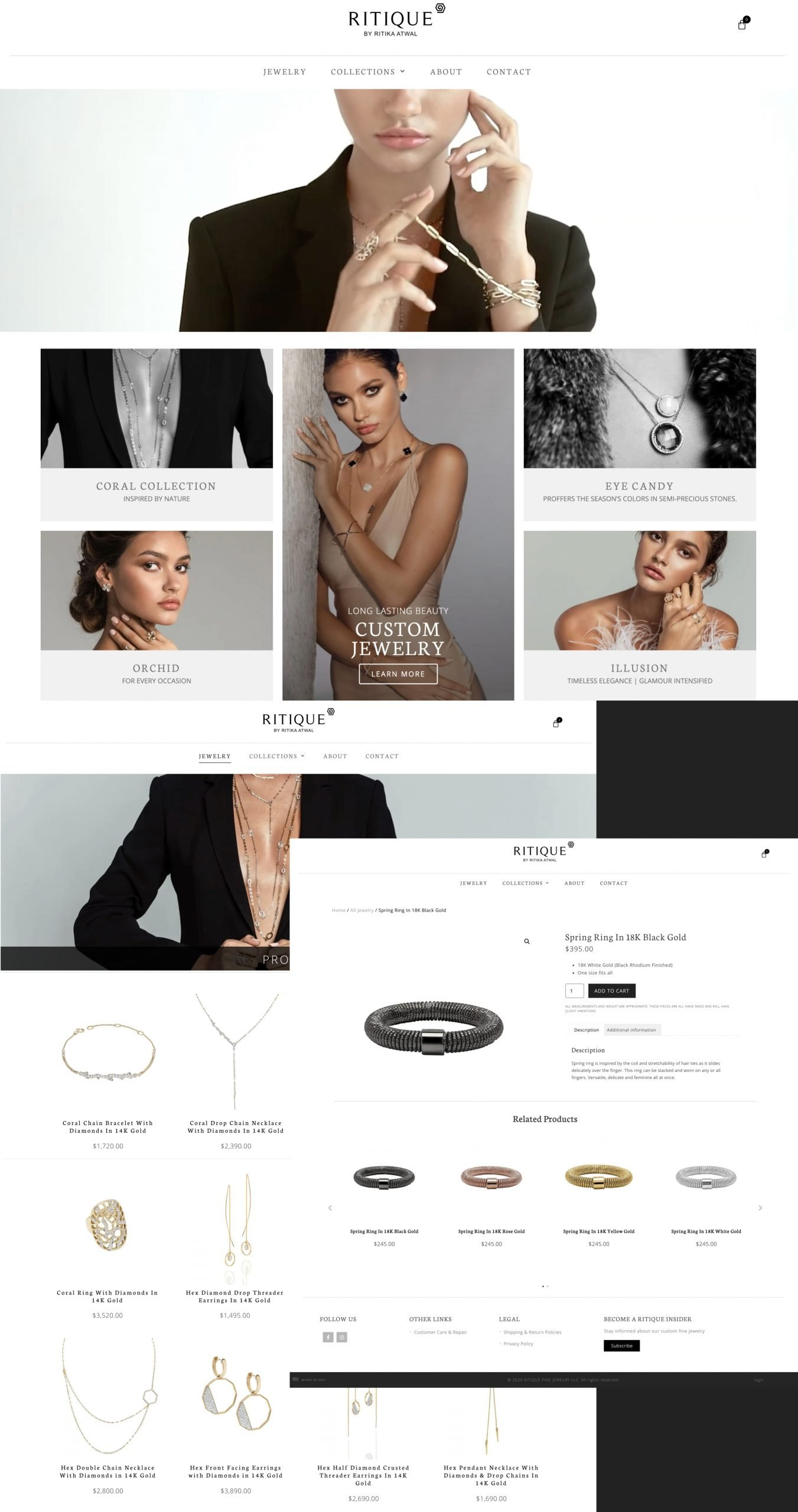 Ritique Jewelry website
