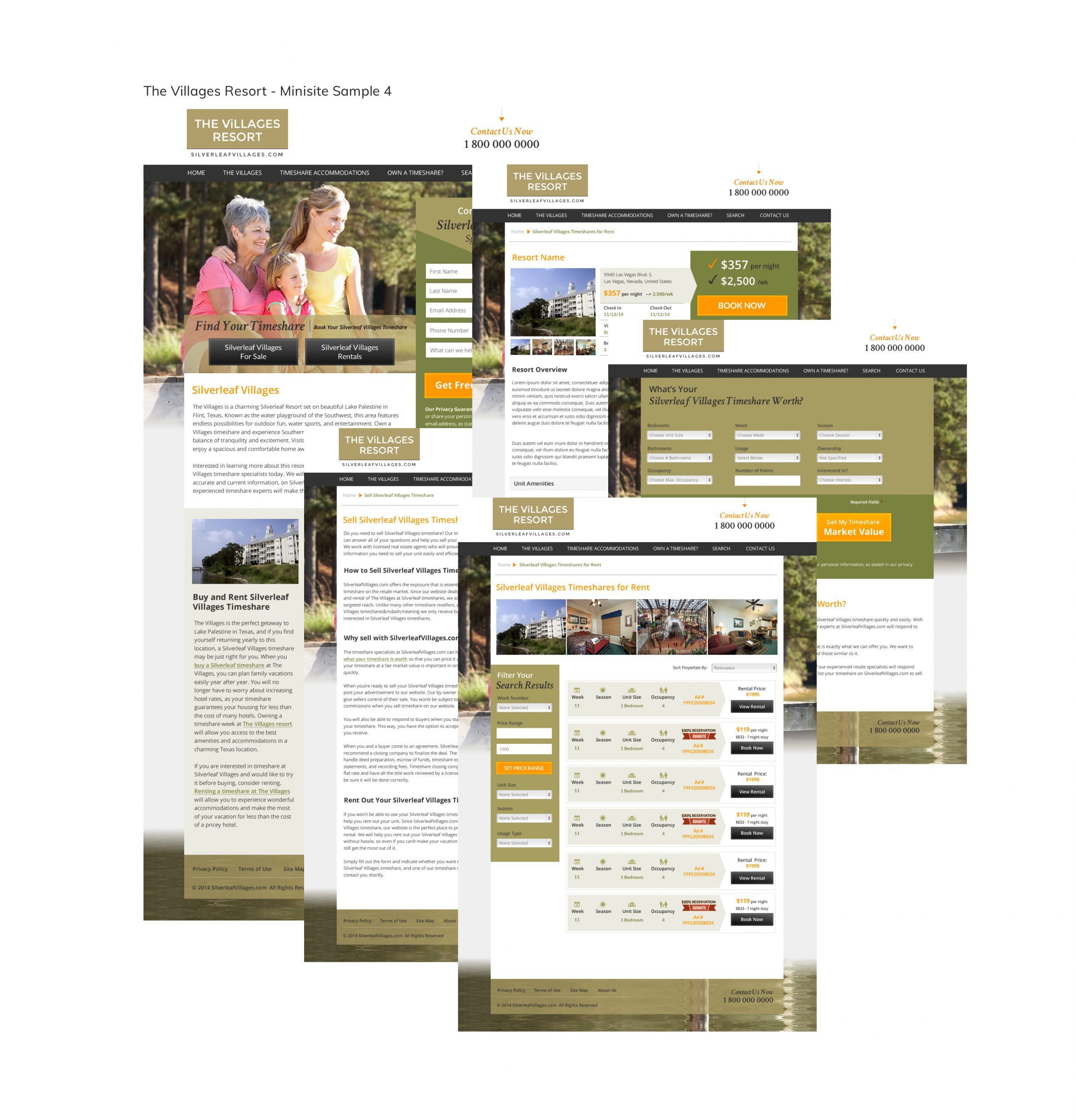Timeshare Website Development