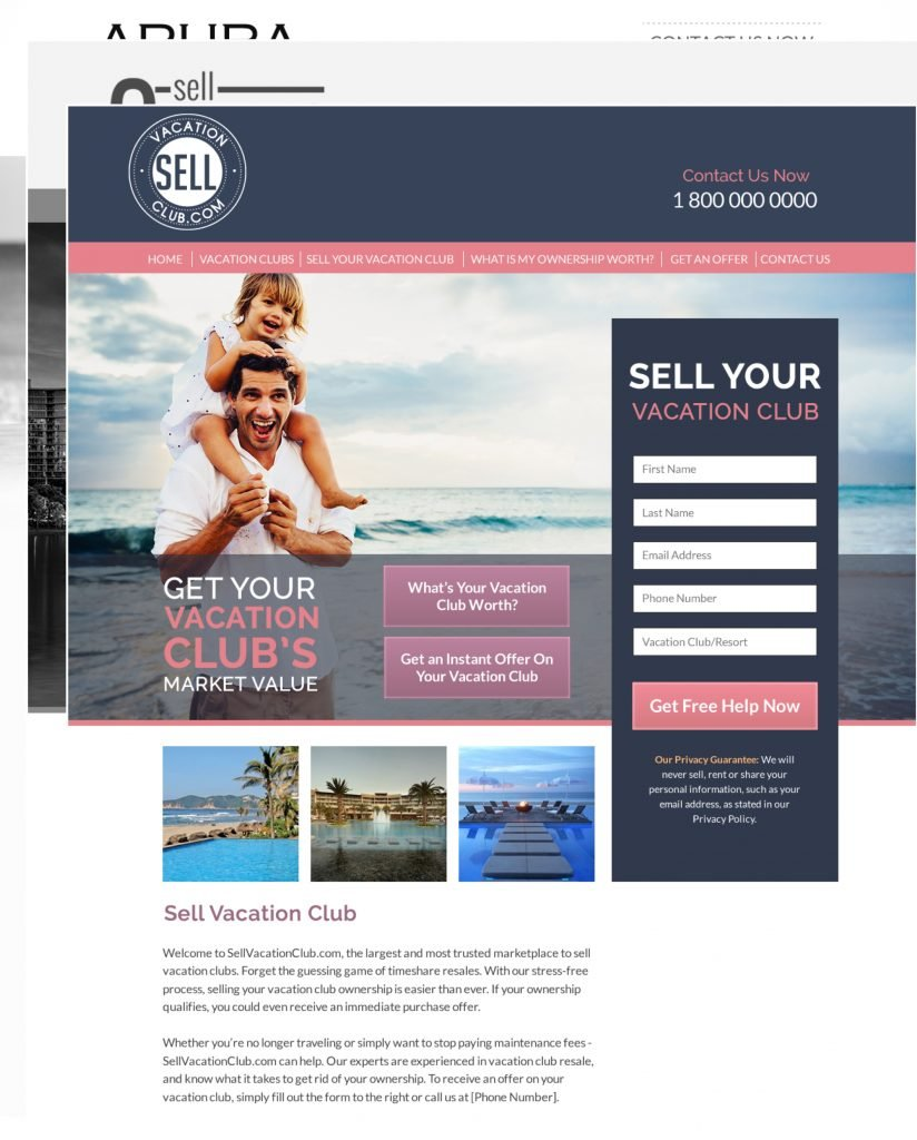 Timeshare mini websites
