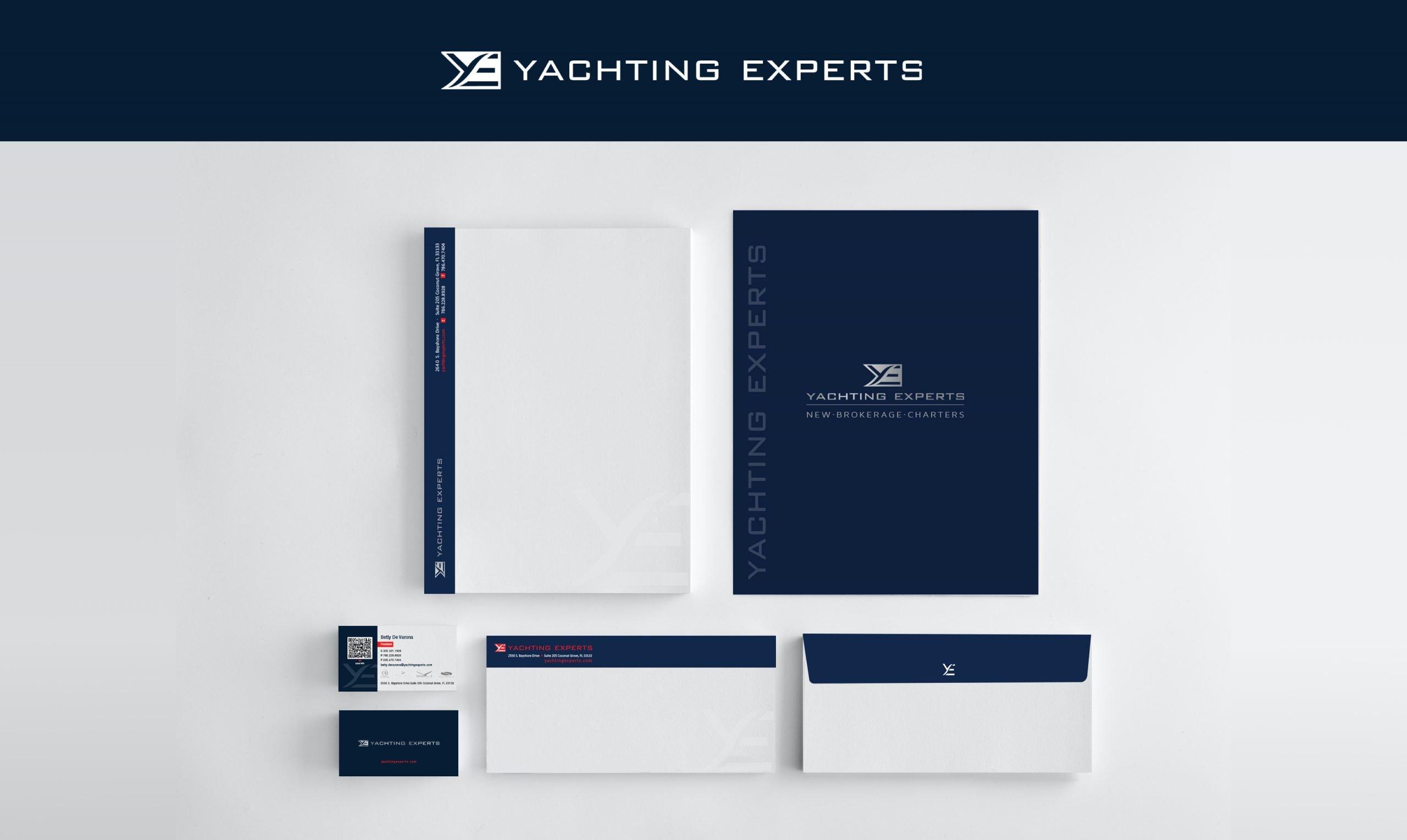 Yachting Experts Branding Identity Materials
